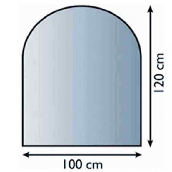 Íves Kandalló üveg alátét 100 cm x 120 cm