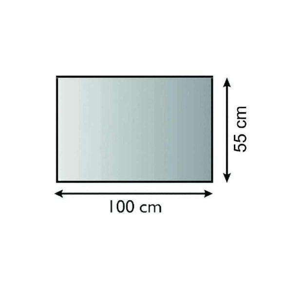 Kandalló üveg előtét 100 cm x 55 cm téglalap
