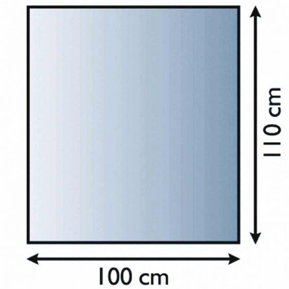 Kandalló üveg alátét 100 cm x 110 cm