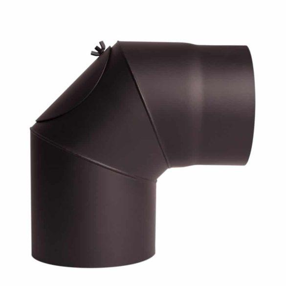 120 mm-es, 90 fokos könyök, tisztítóajtóval, 1,5 mm vtg.