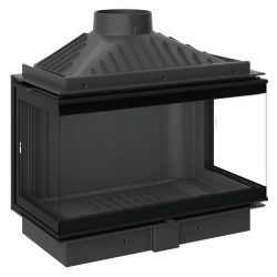 KFD ECO  iMAX 7 3F Standard: 11,5 kW-os modern öntöttvas panoráma kandallóbetét minimal üvegezéssel