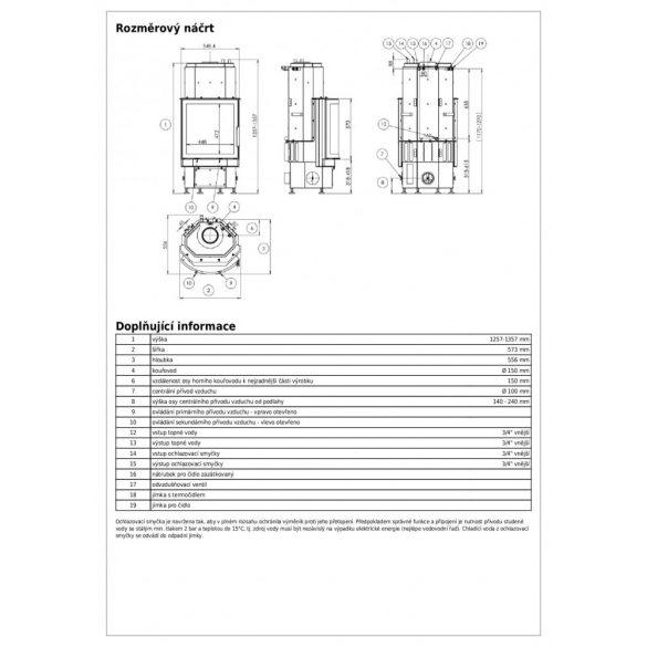 ABX Derby Prisma aqua 10 kW vízteres zárt égésterű kandallóbetét