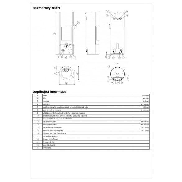 ABX Trollvik Aqua 10 kW vízteres modern zárt égésterű kandallókályha