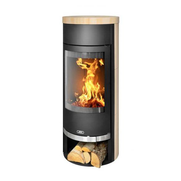 ABX Vigo 6 kW modern zárt égésterű kandallókályha zsírkő dekorburkolattal
