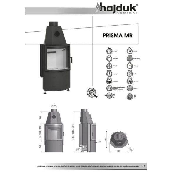 Hajduk Prisma MR51 8,8 kW zárt égésterű kandallóbetét
