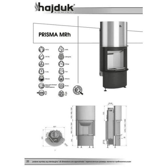 Hajduk Prisma MRH51 8,8 kW zárt égésterű kandallóbetét