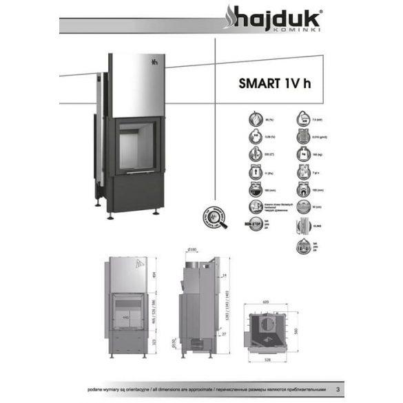 Hajduk Smart 1VH_51 7,5 kW modern zárt égésterű kandallóbetét