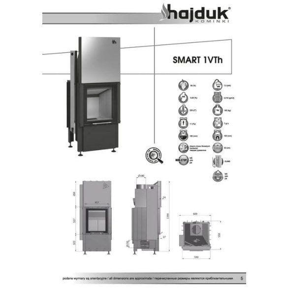Hajduk Smart 1VTH 7,5 kW modern zárt égésterű kandallóbetét