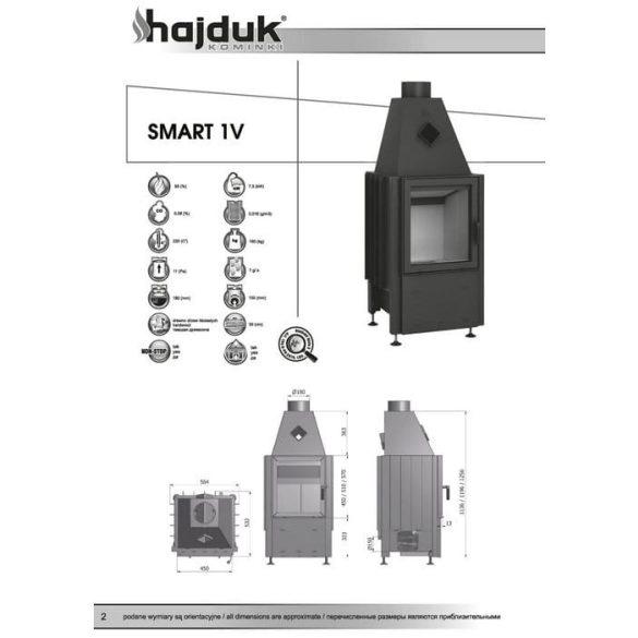 Hajduk Smart 1V_51 7,5 kW zárt égésterű kandallóbetét