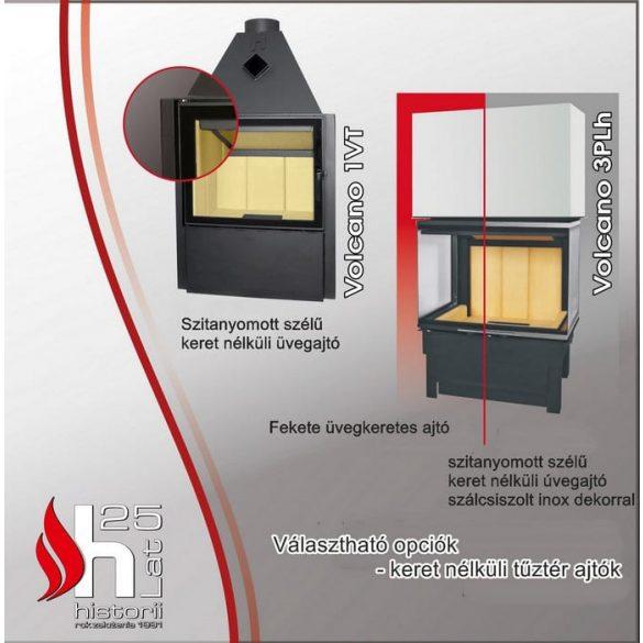 Hajduk Smart 2XLTh 6,5 Kw modern zárt égésterű sarok kandallóbetét bal oldali üveges
