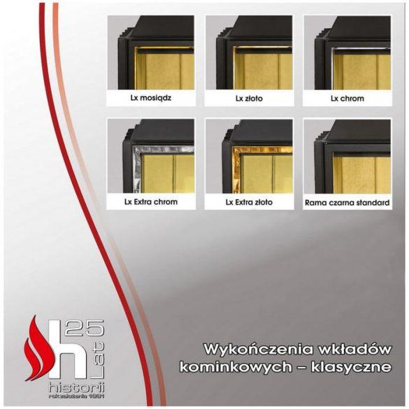 Hajduk Smart 2LH jobb 7,5 kW modern zárt égésterű sarok kandallóbetét