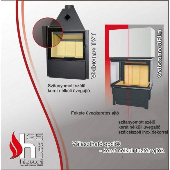 Hajduk Smart 2XLTh 6,5 Kw modern zárt égésterű sarok kandallóbetét jobb oldali üveges