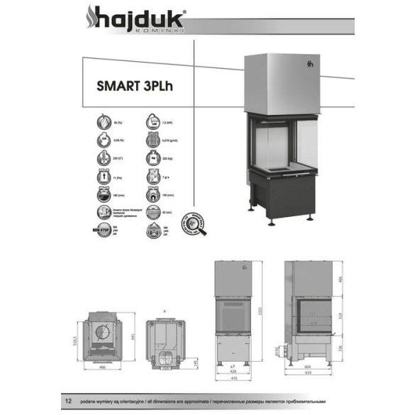 Hajduk Smart 3 PLH 7,5 kW modern zárt égésterű panoráma kandallóbetét