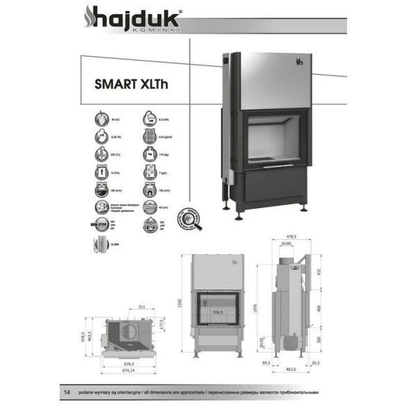 Hajduk Smart XLTH 6,5 Kw modern zárt égésterű kandallóbetét