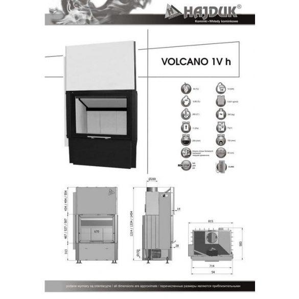 Hajduk Volcano 1VH45 14 kW zárt égésterű kandallóbetét