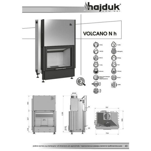 Hajduk Volcano NH 14 kW zárt égésterű kandallóbetét
