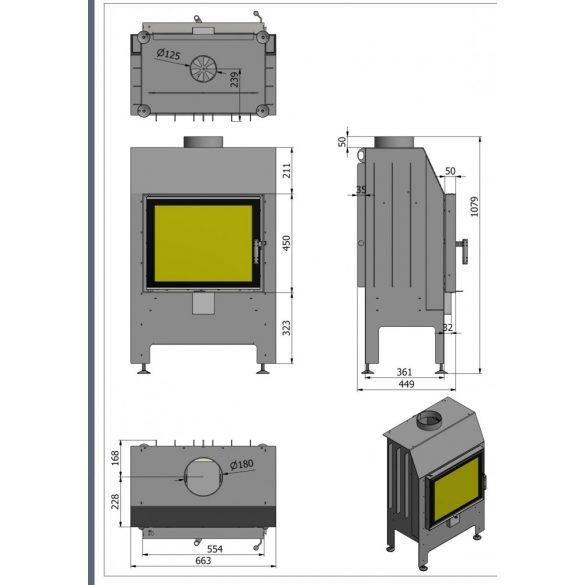 Hajduk Heatro 55 modern zárt égésterű kandallóbetét