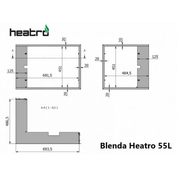 Hajduk Heatro 55 tűztérhez balos sarok keret nyíló