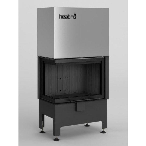 Hajduk Heatro 55LH, Black edition modern, zárt égésterű balos sarok kandallóbetét