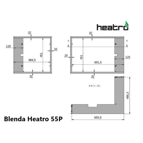 Hajduk Heatro 55 tűztérhez jobbos sarok keret nyíló