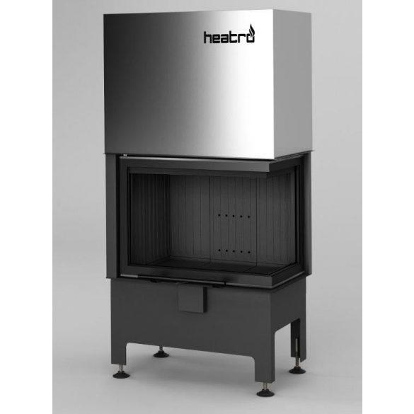 Hajduk Heatro 55PH, Black edition modern, zárt égésterű jobbos sarok kandallóbetét