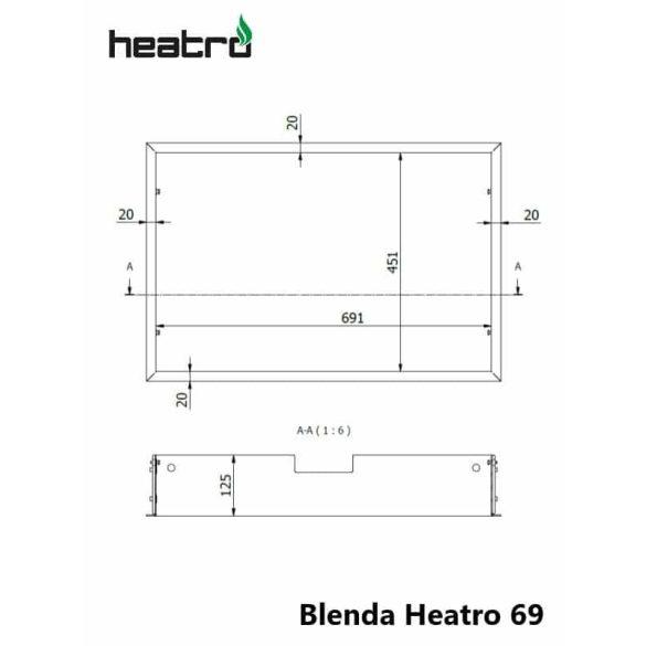 Hajduk Heatro 69 tűztérhez keret nyíló