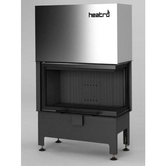 Hajduk Heatro 69PH Black Edition modern zárt égésterű jobbos sarok kandallóbetét