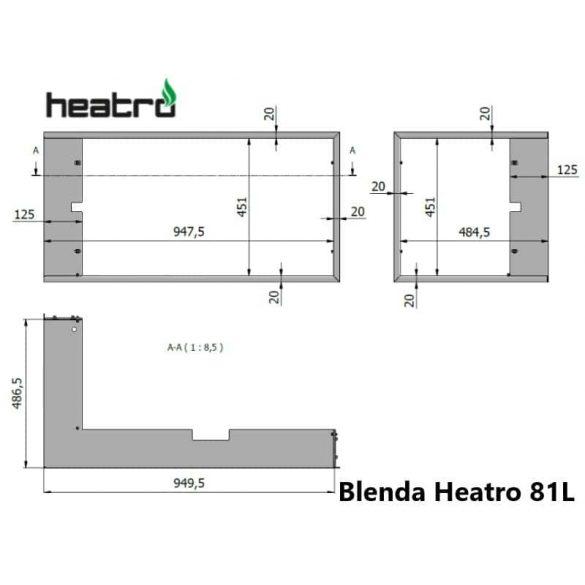Hajduk Heatro 81 tűztérhez balos sarok keret nyíló