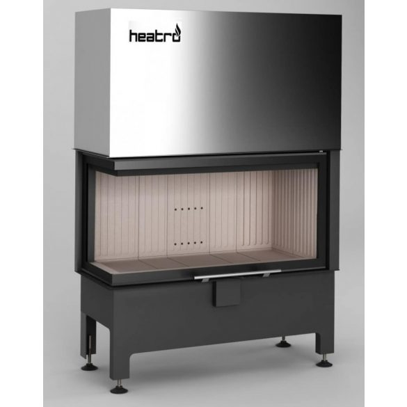 Hajduk Heatro 81LH modern zárt égésterű balos sarok kandallóbetét