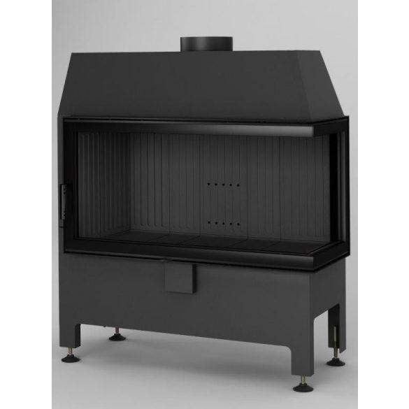Hajduk Heatro 81P Black Edition modern zárt égésterű jobbos sarok kandallóbetét