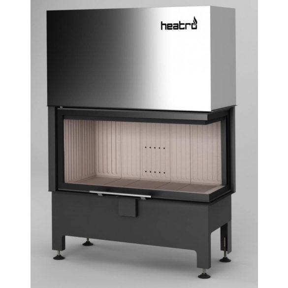 Hajduk Heatro 81PH modern zárt égésterű jobbos sarok kandallóbetét