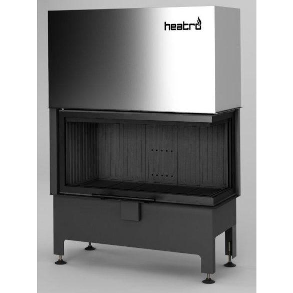 Hajduk Heatro 81PH Black Edition modern zárt égésterű jobbos sarok kandallóbetét