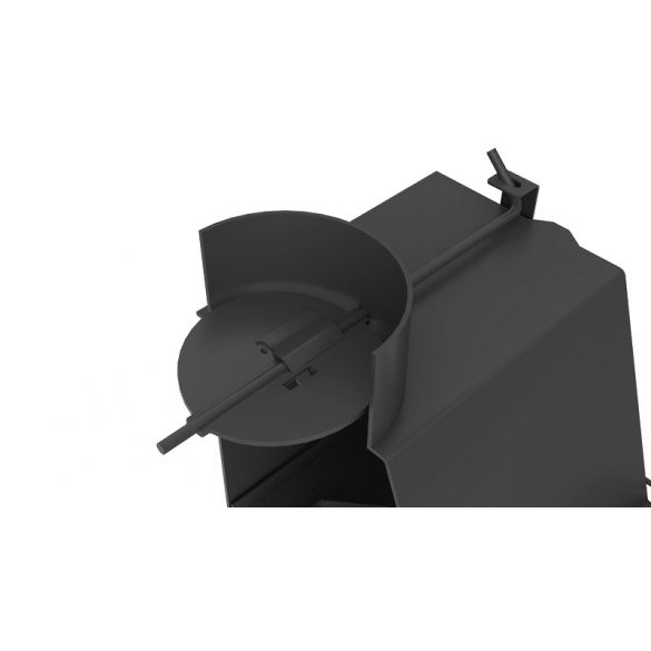 KFD ECO 70 Jobb 14 kW sarok kandallóbetét hőtárolós samott égéstérrel