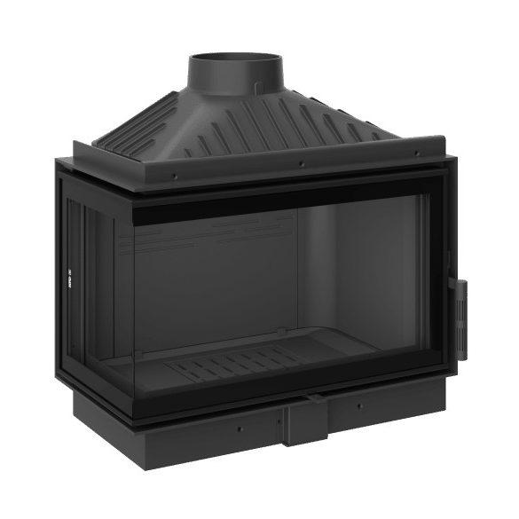 KFD ECO MAX i 7 Standard Bal: 11,5 kW-os modern öntöttvas sarok kandallóbetét pillangószeleppel