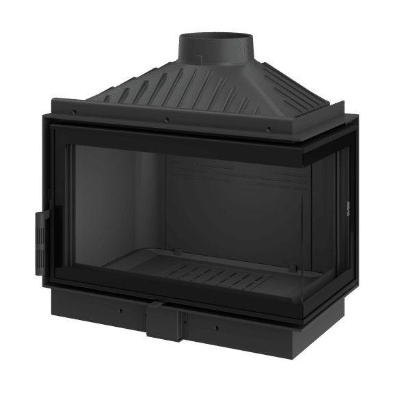 KFD ECO MAX i 7 Standard Jobb: 11,5 kW-os modern öntöttvas sarok kandallóbetét pillangószeleppel