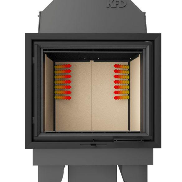 KFD ECO iLine 3f modern zárt égésterű panoráma kandallóbetét