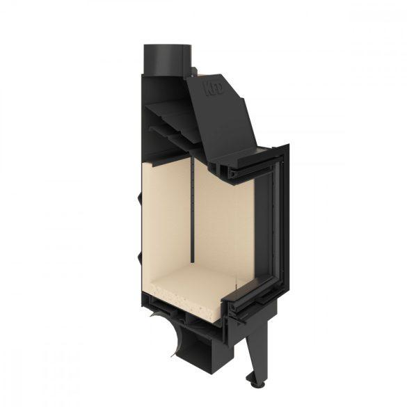 KFD ECO iLine 5172 jobb R 13 kW modern zárt égésterű sarok kandallóbetét