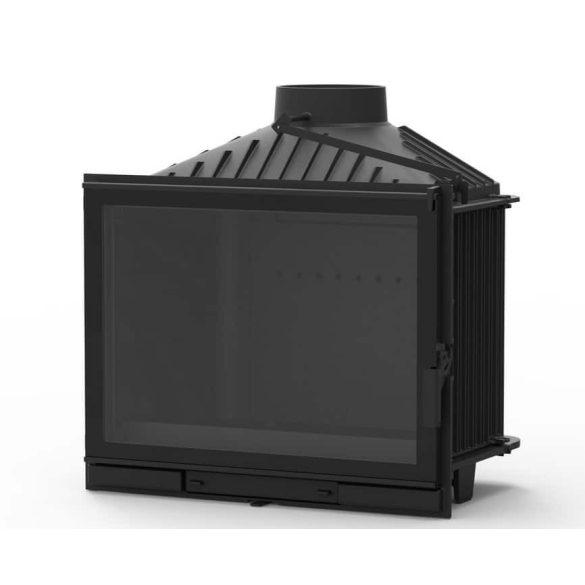 KFD Eco ilux 14: 14 kW-os modern öntvény kandallóbetét pillangószeleppel