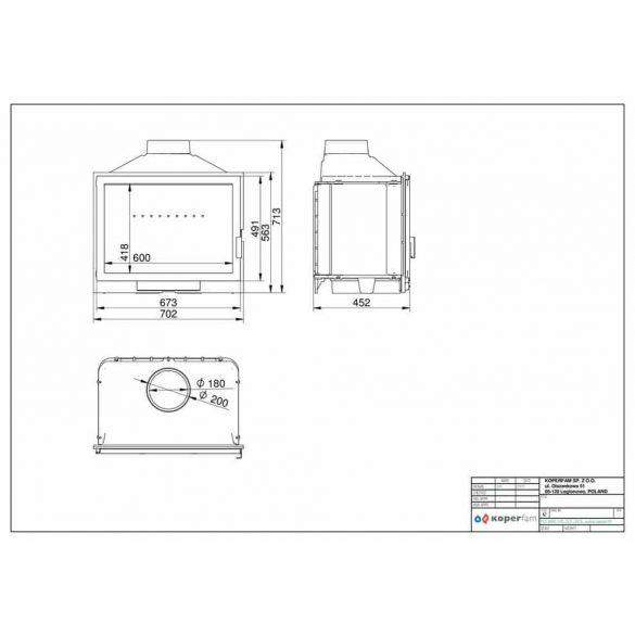 KFD Eco ilux 14: 14 kW-os modern öntvény kandallóbetét