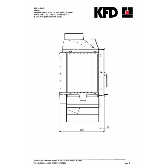 KFD ECO i LUX 90 + 11,7 kW modern zárt égésterű öntvény kandallóbetét