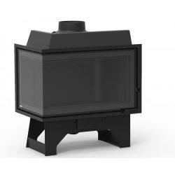KFD ECO i LUX 90+ Bal 11,7 kW modern zárt égésterű öntöttvas sarok kandallóbetét