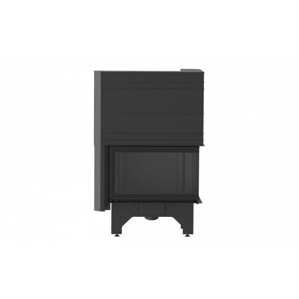 KFD ECO i LUX 90+ bal 11,7 kW liftes ajtajú, modern zárt égésterű öntöttvas sarok kandallóbetét