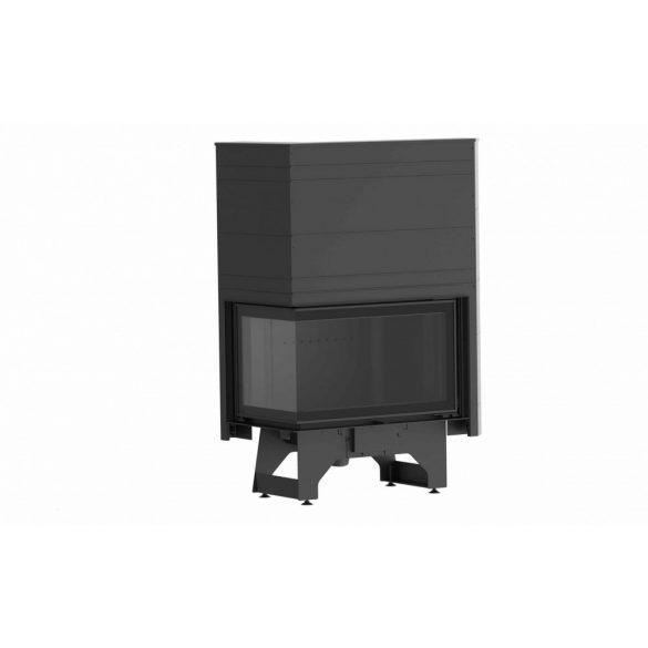 KFD ECO i LUX 90+ jobb 11,7 kW liftes ajtajú, modern zárt égésterű öntöttvas sarok kandallóbetét