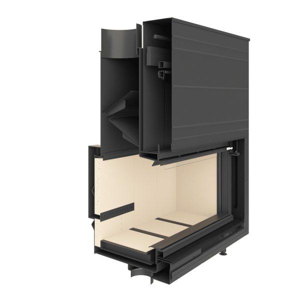 KFD Linea 1180 3.0, 12 kW modern zárt égésterű panoráma kandallóbetét