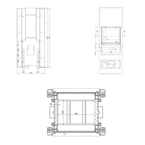 KFD Linea DF 810 3.0, 8 kW modern zárt égésterű kandallóbetét