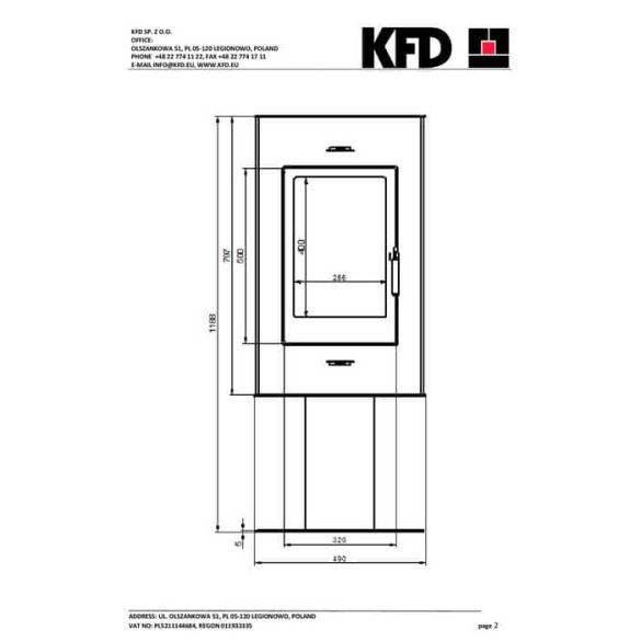 KFD Liza 6 kw modern kandallókályha