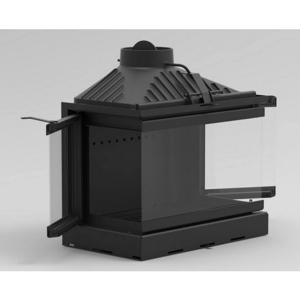 KFD ECO MAX 7 3F BASIC 14 kW modern öntöttvas panoráma kandallóbetét pillangószeleppel