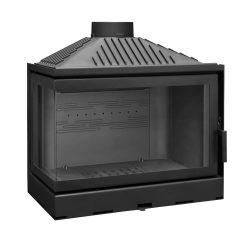 KFD ECO MAX 7 BASIC bal: 14 kW-os modern öntöttvas sarok kandallóbetét pillangószeleppel
