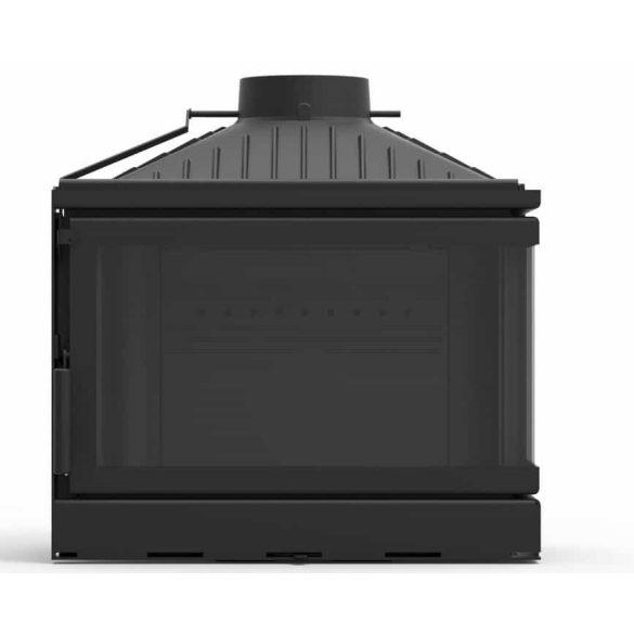 KFD ECO MAX 7 BASIC jobb: 14 kW-os modern öntöttvas sarok kandallóbetét pillangószeleppel