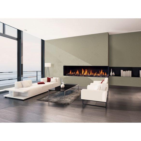 URANUS XLG, zárt égésterű, gázüzemű, kéményes sarok kandallóbetét bal